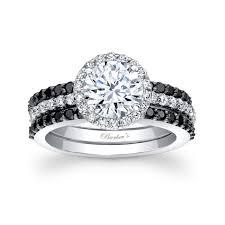 black engagement ring set barkev s black bridal set 7895sbk