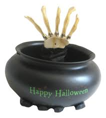 motion animated candy bowl w skeleton hand sound effects