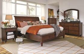 Whole Bedroom Sets Queen Size Bed With Sleigh Headboard U0026 Drawer Storage Footboard By