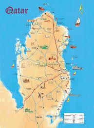 Map Of Bahrain Map Of Qatar