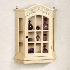 curio cabinet curio cabinet cherry wood wall glass doors curios