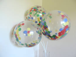 8 confetti balloons lego inspired red blue yellow and