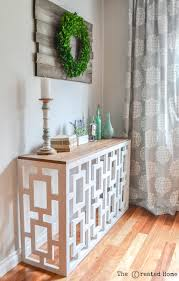 Diy Console Table Fretwork Console Table