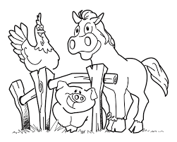 free printable farm animal coloring pages kids