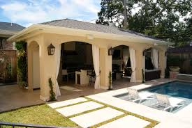 freestanding loaded pool cabana texas custom patios