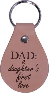 amazon com dad a daughter u0027s first love leather key chain great