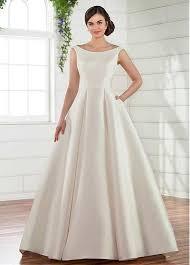 wedding dress with pockets buy discount junoesque satin bateau neckline a line wedding dress