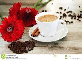 Beautiful Coffee Cups Coffee And Beautiful Flowers Stock Photo Image 54969167
