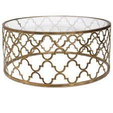 uttermost quatrefoil gold coffee table quatrefoil living rooms