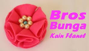 membuat kerajinan bros cara membuat bros bunga mutiara dari kain flanel