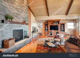 living room new houselarge furnished living stock photo 272519531