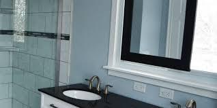 Remodelaholic Master Bathroom Renovation With Sliding Mirror - Bathroom sink mirror