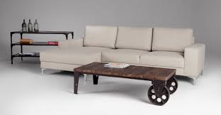 Wooden Coffee Table With Wheels by Brown Wooden Coffee Table With Two Big Wheels And Black Steel Legs