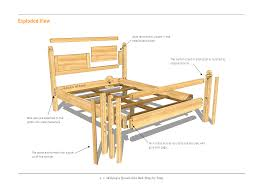 diy bed frame tutorial attach the center support leg to fair wood