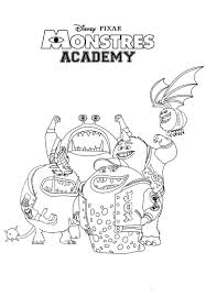 monsters university coloring pages kids monstres diaet