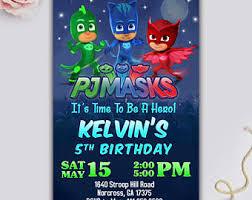 pj masks invitation pj masks party pj masks birthday pj