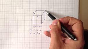 oberfläche eines würfels volumen eines quaders berechnen rechenanleitung