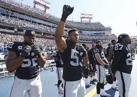 Oakland Raiders American Flag National Anthem Protests Continue At Nfl Games