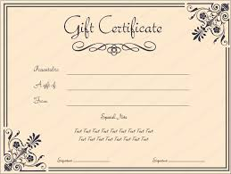 corner border gift certificate template beautiful printable gift
