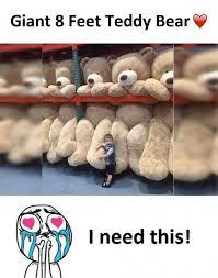 Teddy Bear Meme - dopl3r com memes giant 8 feet teddy bear i need this