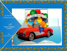 corvette birthday corvette birthday wobbles card kit cup241532 866