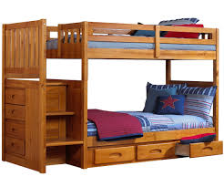Ikea Bunk Bed Frame Bedding Appealing Ridgeline Honey Mission Staircase Bunk Bed