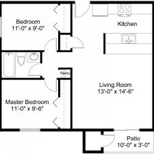 Two Bedroom Floor Plans 2 Bedroom 1 Bath Apartments Interior Design