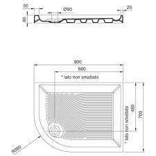 piatto doccia rettangolare 70 x 80 ceramica dolomite swim piatto doccia ad angolo curvo 90 x 70 cm