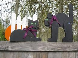 halloween decorations from wooden scraps forgetmenot art