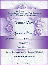 wedding invitation templates free for word wedding invitations