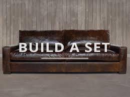 Brompton Leather Sofa Braxton Leather Furniture Set Shown In Brompton Cocoa
