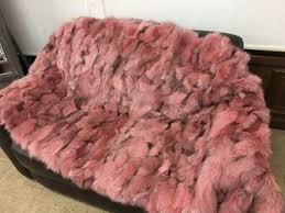 light pink fur blanket crystal fox fur blanket