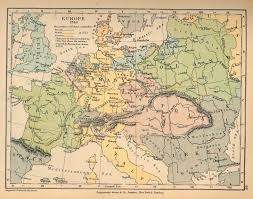 North Europe Map by Europe In 1740