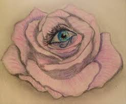 ancient evil eye of horus pink design by hellsentbunny
