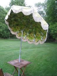 Grass Patio Umbrellas Retro Vintage Mid Century Eanes Era Patio Outdoor Umbrella W