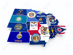 Iowa Map Usa by Map Usa Midwest Region Stock Photo Picture And Royalty Free Image