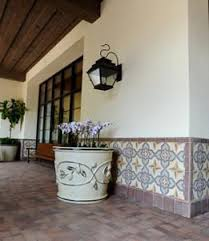 Outdoor Wainscoting Cement Tile Wainscoting Creates Outdoor Harmony U2013 Avente Tile