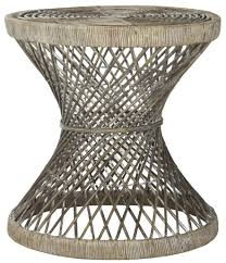 Wicker Accent Table Grey Rattan Accent Table Wik6506b Safavieh