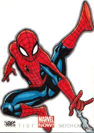 spiderman marvel now sketch card by jasons21 on deviantart