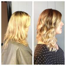 redken strawberry blonde hair color formulas blonde ombré before and after from grown out all over highlights