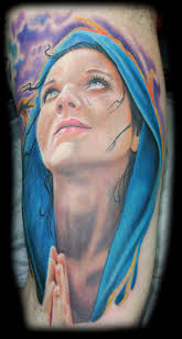 inkognito tattoos color virgin mary tattoo
