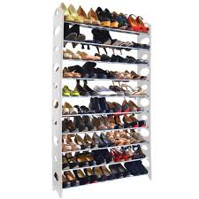 Shoe Rack by Songmics 10 Tier 50 Pair Stackable Shoe Rack Reviews Wayfair