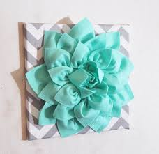 large mint green flower wall hanging flower wall decor
