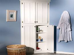 bathroom white 3 drawers corner linen cabinet for bathroom