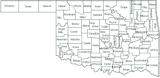map of oklahoma map of oklahoma counties major tourist attractions maps