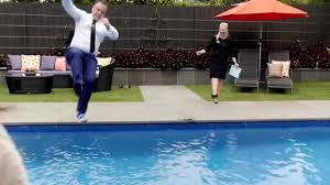 real estate agent matthew scafidi jumps in pool after record sale