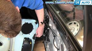 how to install replace passenger front door panel vw passat 98 01