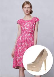 what to wear with a light pink dress 6 fab dresses to wear to a spring wedding with heels to match