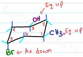 drawing chair conformations and ring flips for cyclohexane in
