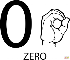 asl number zero free download education number coloring pages